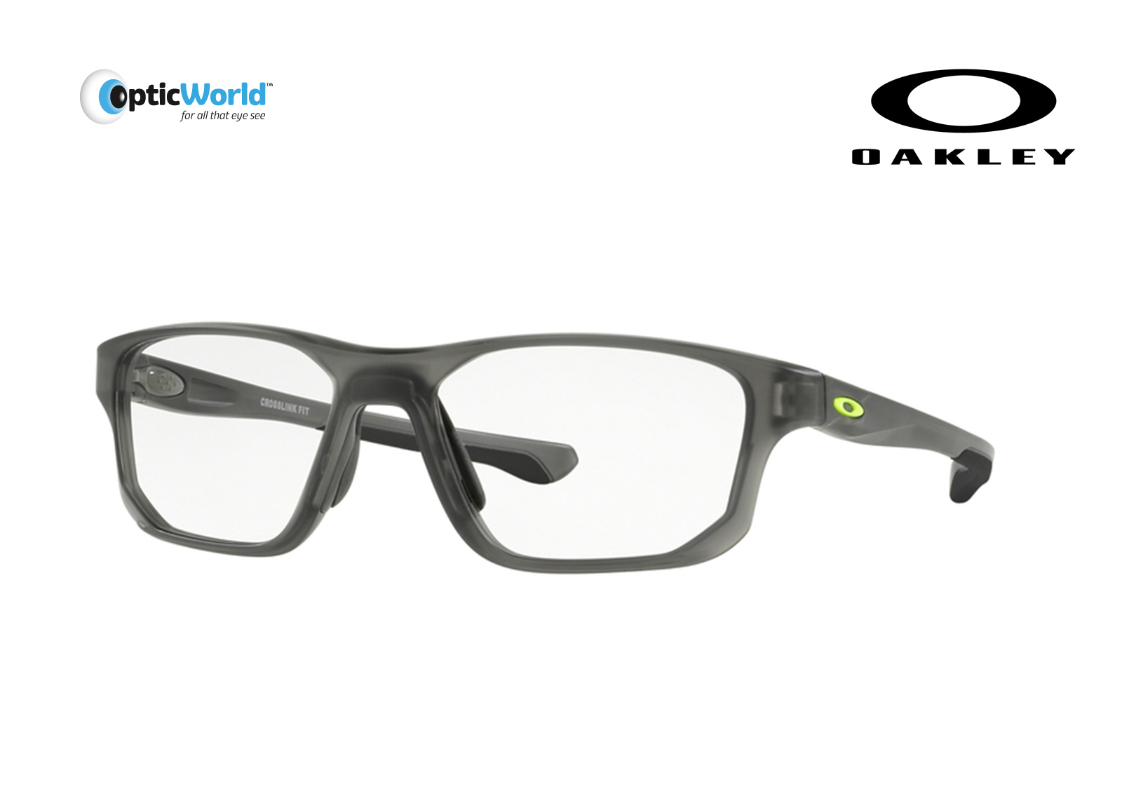4e481608ea1 Eyeglasses Oakley Crosslink Fit 8136m-02 53 Satin Grey Smoke Lime. About  this product. Picture 1 of 2  Picture 2 of 2