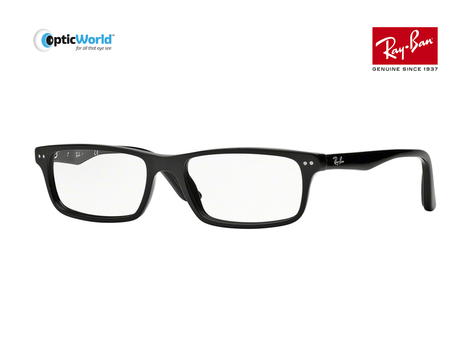 95edd515cccd Ray-Ban Rx5277 2000 52mm Shiny Black Eyeglasses. About this product.  Picture 1 of 2  Picture 2 of 2