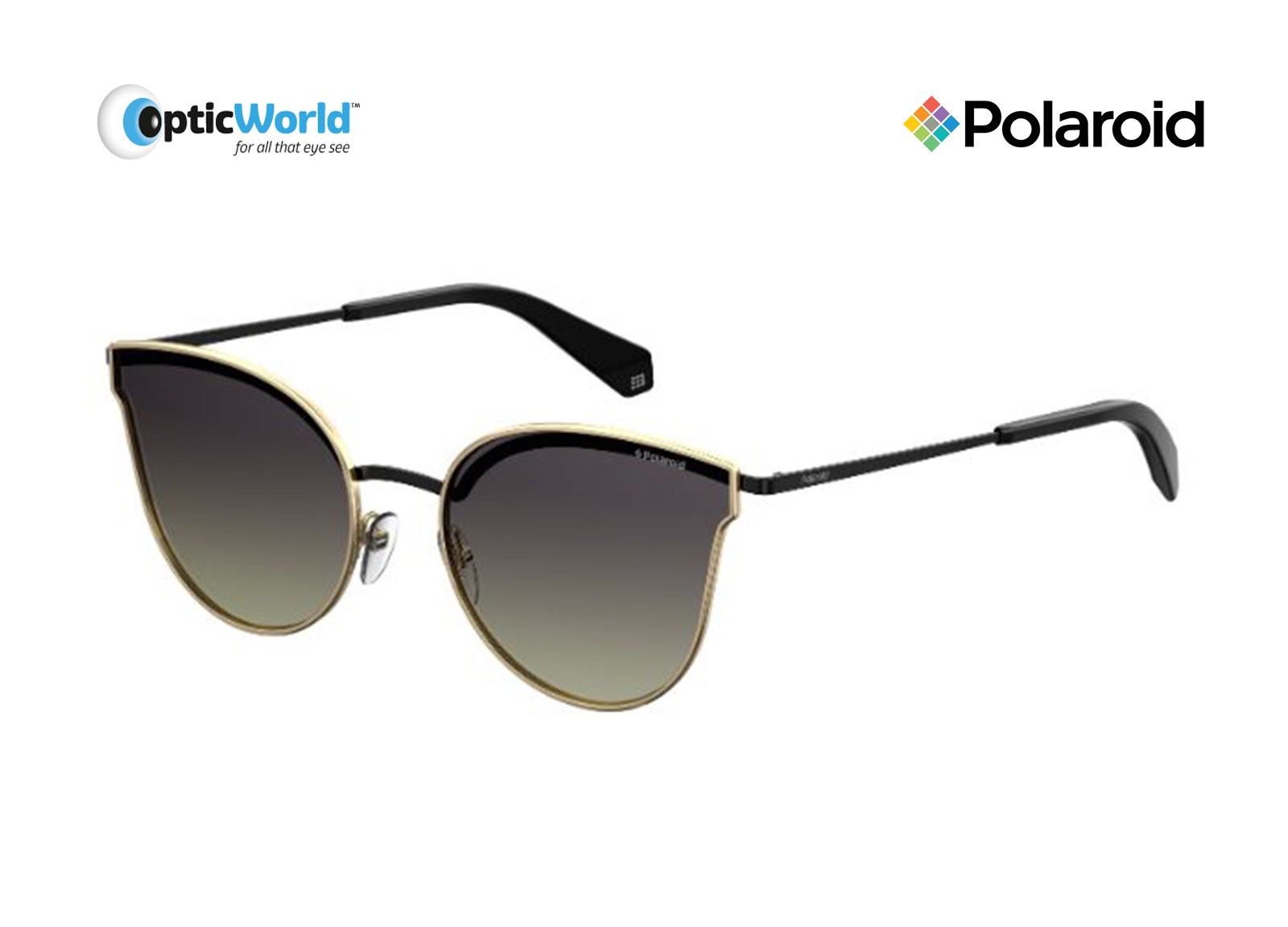 bef7aac729 Sunglasses Polaroid Polarized Pld4056 s J5g WJ 58-19 Gold Black Gradient.  About this product. Picture 1 of 2  Picture 2 of 2